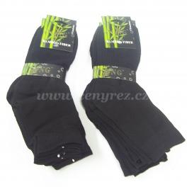 10x černé bambusové ponožky GNG