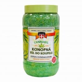 Cannabis konopná sůl do koupele 1200 ml