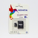 MicroSDHC karta 8GB s SD adaptérem