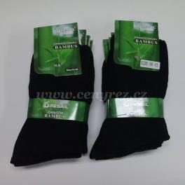 Černé zdravotní bambusové ponožky