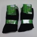 10x čierne zdravotné bambusové ponožky