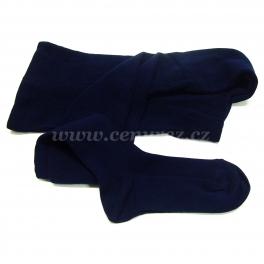 Bamboo ribbed tights - dark-blue