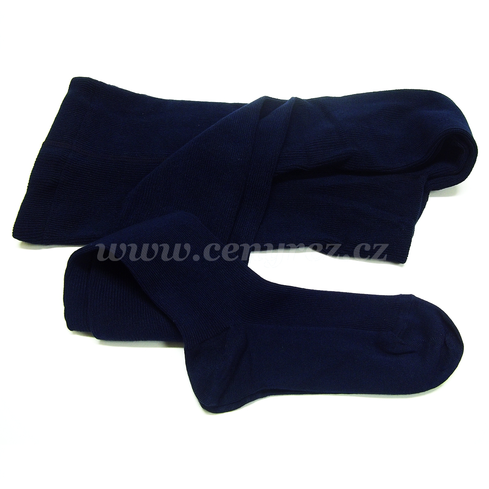 Bamboo ribbed tights - dark-blue