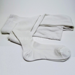 Bamboo ribbed tights - white