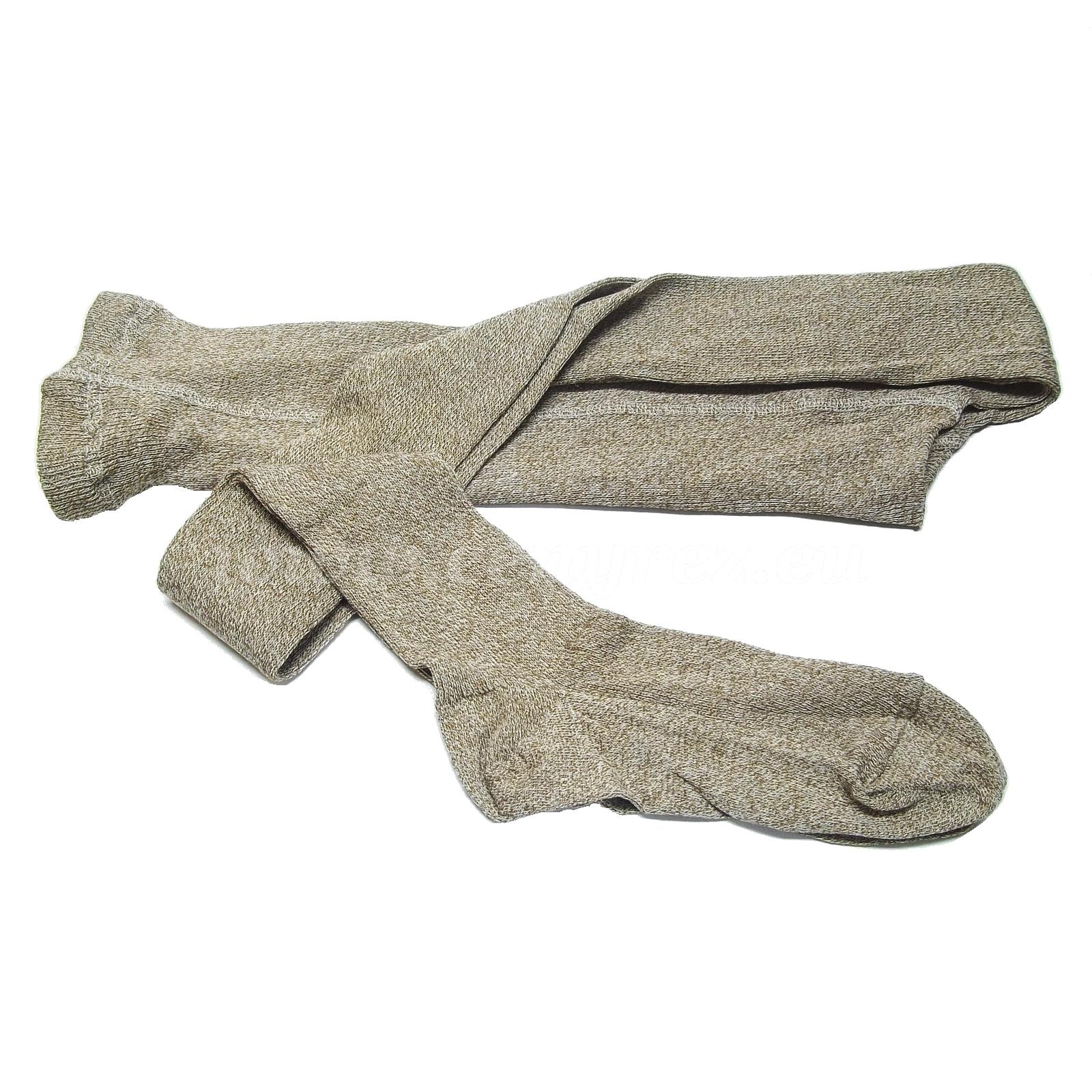 Ribbed tights MELKONA - brown Melange