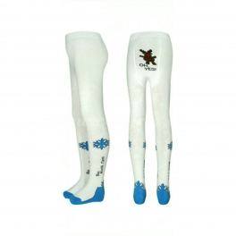 Terry Tights SNOWFLAKE - white