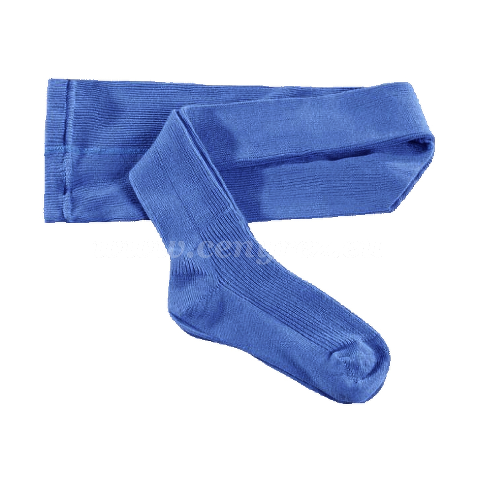 KASKA dětské žebrované punčocháče - modrá