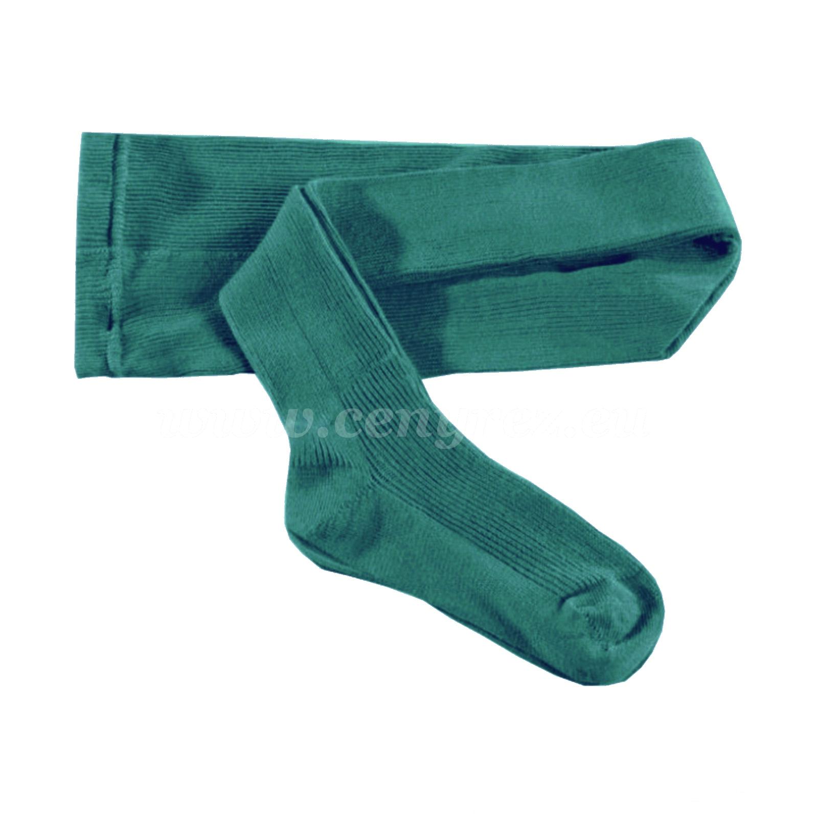 KASKA dětské žebrované punčocháče - zelená