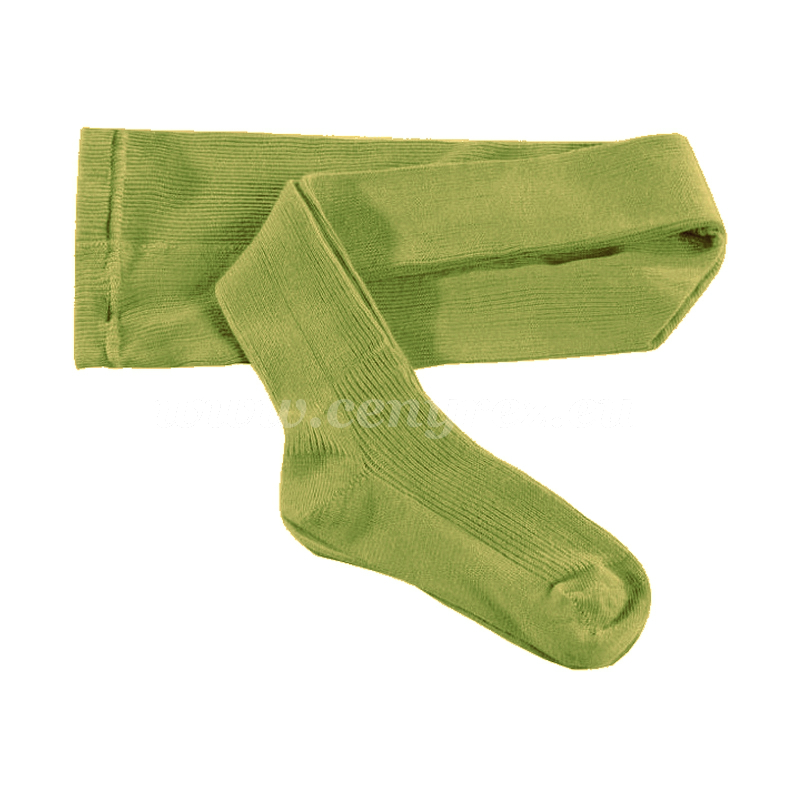 KASKA Children's ribbed tights - light green