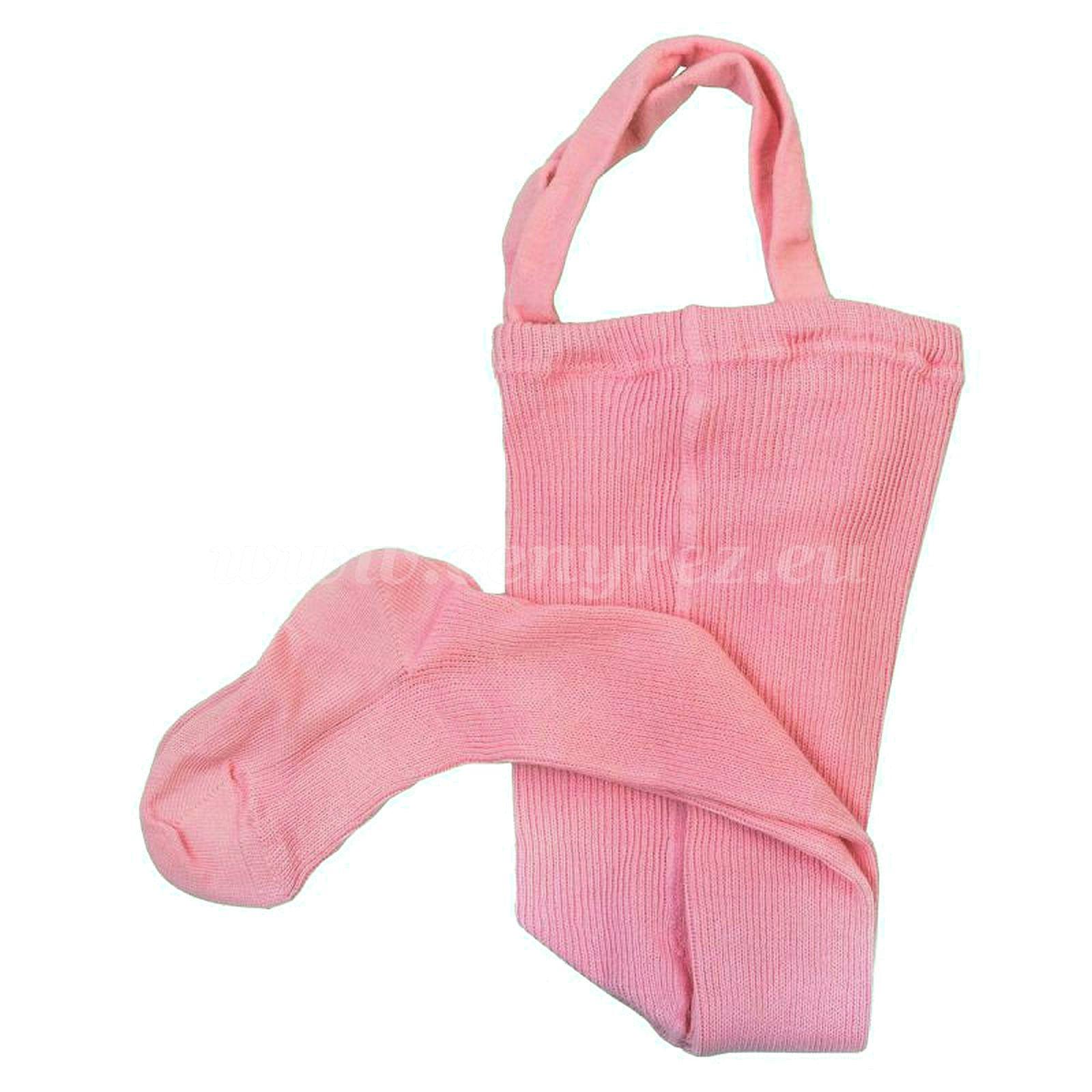 DUCIKA punčocháče se šlemi - růžová