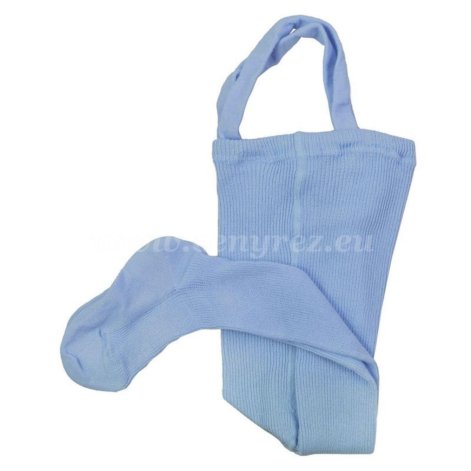 DUCIKA Babystrumpfhosen mit Trägern - hellblau