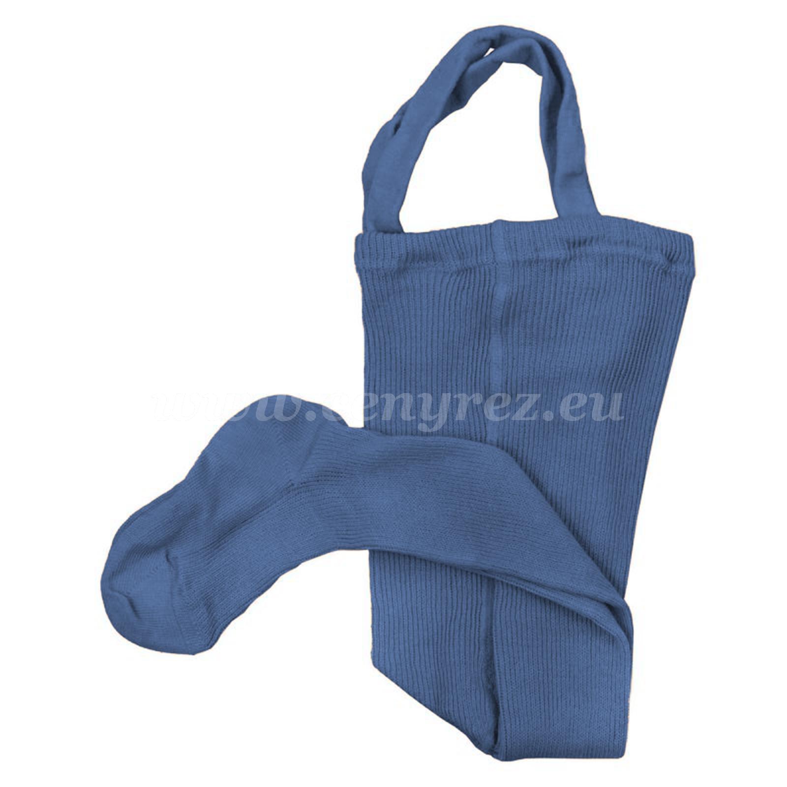 DUCIKA pančucháče s trakmi - modrá