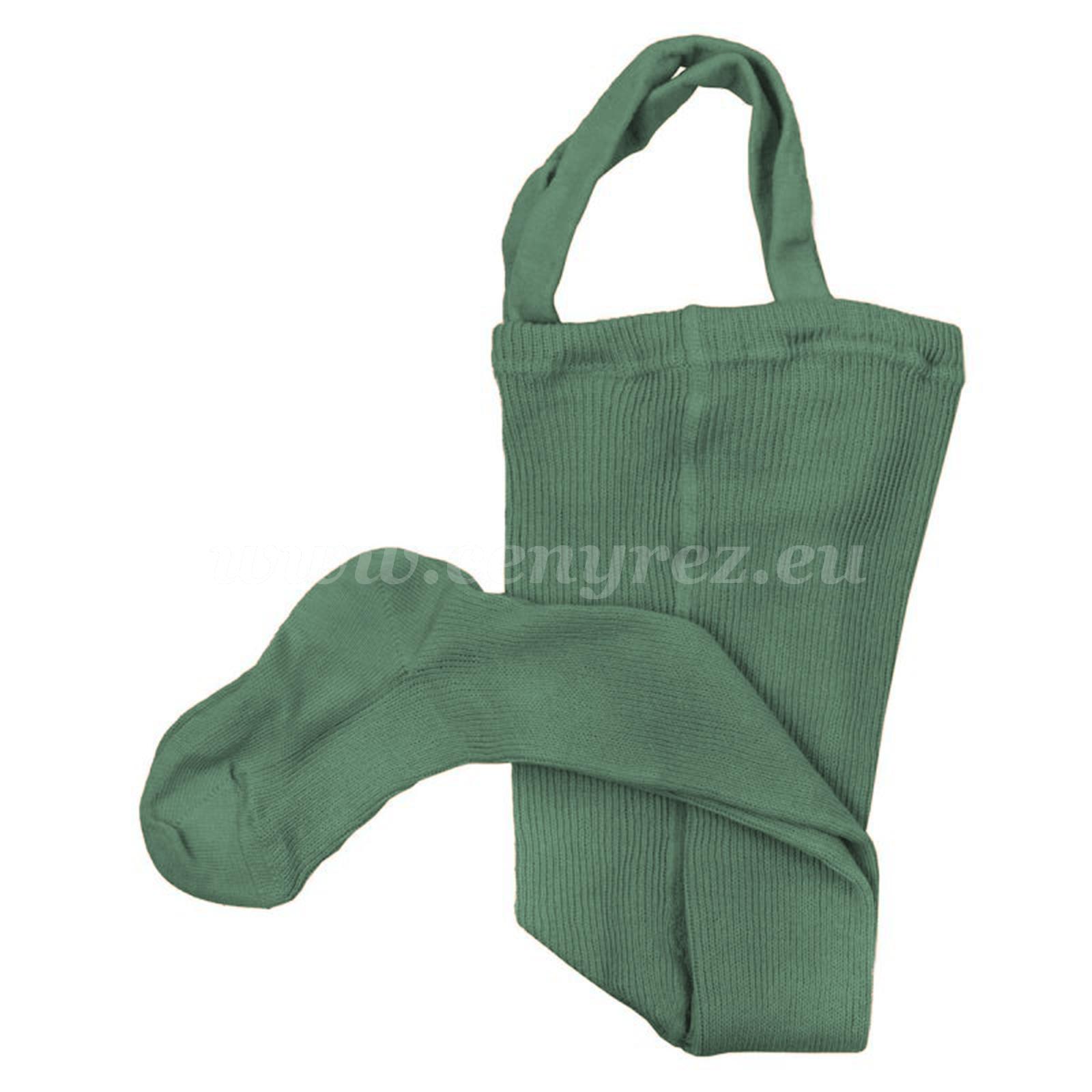 DUCIKA pančucháče s trakmi - zelená