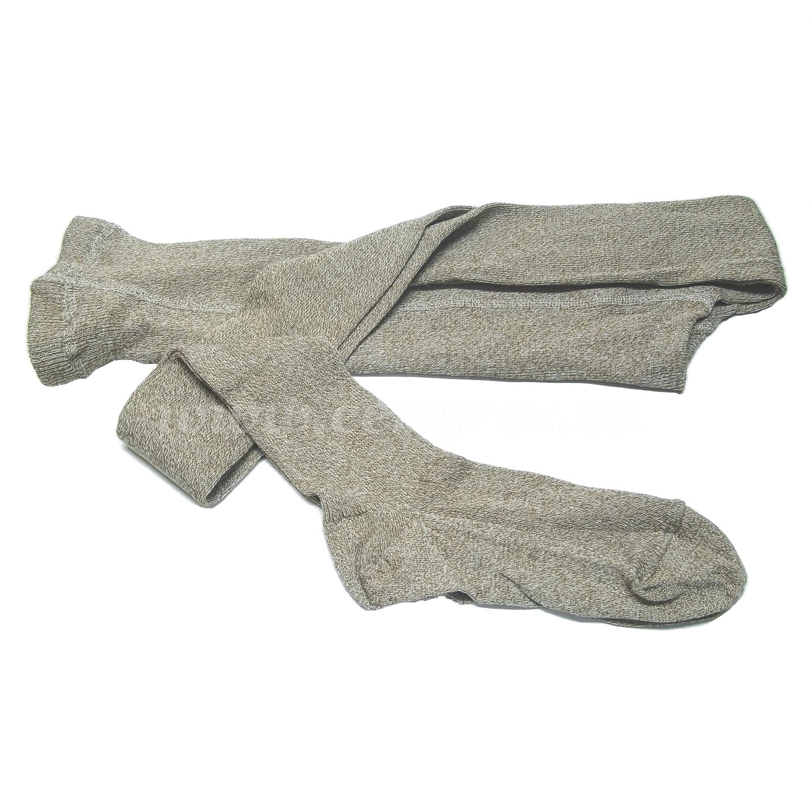 Ribbed tights MELKONA - light brown Melange