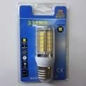 LED žárovka 8W E27 teplá bílá
