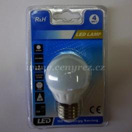LED žárovka 4W E27 matná, bílá