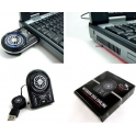 Mini USB cooler with fan for laptops