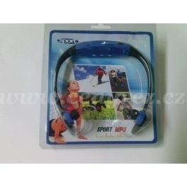Športové slúchadlá s MP3 prehrávačom