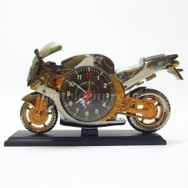 Motorka - hodiny s budíkom
