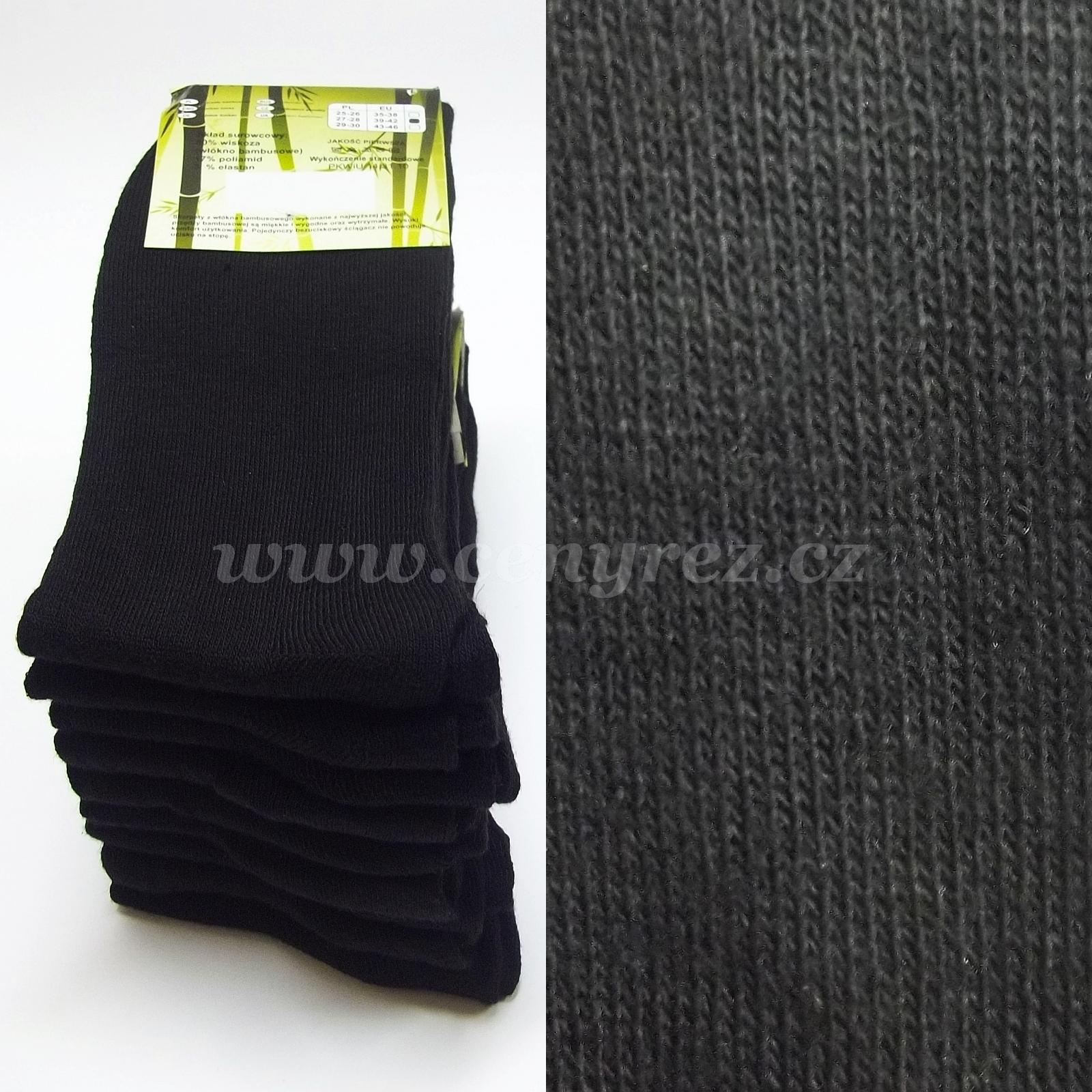 9a85015ed7a 9x černé bambusové ponožky - CenyŘez