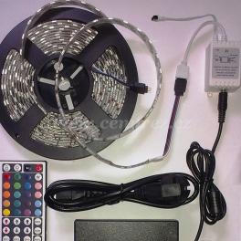 RGB LED páska 5m s trafem