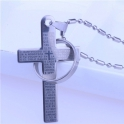 Luxury pendant - a cross with a ring