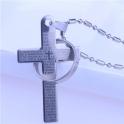 Luxusný prívesok - krížik s prstienkom